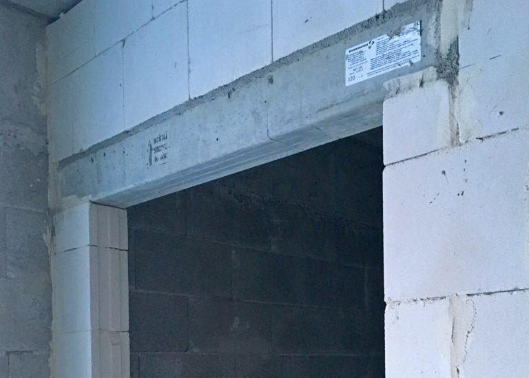 nadproża ściany działowe